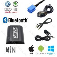 Yatour Bluetooth interface / audio adapter met AUX ingang voor VOLKSWAGEN / VW autoradio's (YT-BTA-VW8)