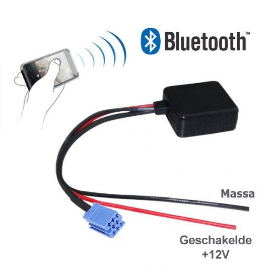 Bluetooth adapter voor Audi, Skoda, Seat, Volkswagen, Becker, Philips en Blaupunkt autoradio's met een 8-pin AUX-aansluiting