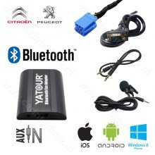 Yatour Bluetooth interface / audio adapter met AUX ingang voor Peugeot autoradio's (YT-BTA-RD3)