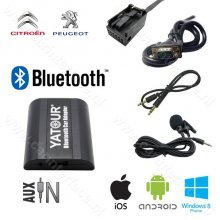 Yatour Bluetooth interface / audio adapter met AUX ingang voor Peugeot autoradio's (YT-BTA-RD4)