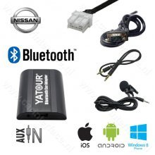 Yatour Bluetooth interface / audio adapter met AUX ingang voor Nissan autoradio's (YT-BTA-NIS)