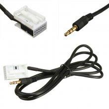 AUX-kabel, 3.5MM jack voor Citroen en Peugeot autoradio's (12-pin)