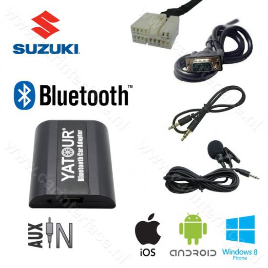 Yatour Bluetooth interface / audio adapter met AUX ingang voor Suzuki autoradio's
