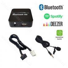 Bluetooth streamen + handsfree carkit interface / audio adapter voor Toyota 6+6 pin autoradio's