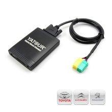 Yatour USB, SD, AUX ingang, MP3 interface voor Toyota Aygo, Citroën C1, Peugeot 107 autoradio's (YTM06-TOY3)