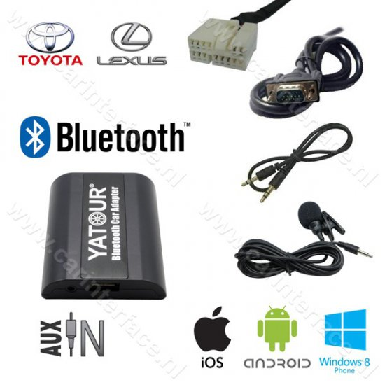 Yatour Bluetooth interface / audio adapter met AUX ingang voor Lexus autoradio's (YT-BTA-TOY1)