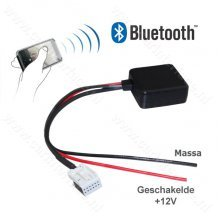 Bluetooth naar AUX interface / audio adapter voor Citroen en Peugeot autoradio (12-pin)