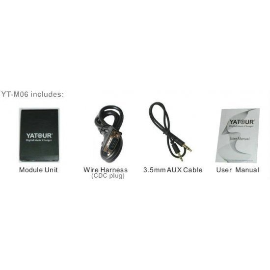 Yatour USB, SD, AUX ingang, MP3 interface / audio adapter voor Honda Goldwing GL1800 (YTM06-HON2F)