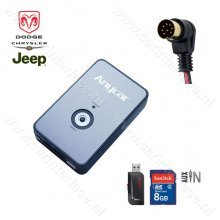 AnyCar USB, SD, AUX IN, MP3 interface adapter voor Chrysler, Dodge en Jeep autoradio's (8-pin)