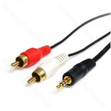 3.5mm mannetje / male naar 2x RCA mannetje / male adapter, AUX audio kabel