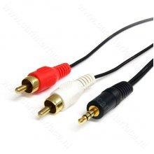 3.5mm mannetje / male naar 2x RCA mannetje / male adapter, AUX audio kabel