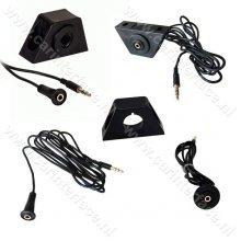 AUX inbouw / opbouw connector met 1 meter kabel