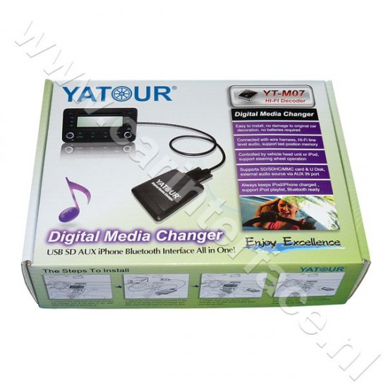 Yatour USB, SD, iPod, iPhone, AUX ingang, MP3 interface / audio adapter voor Ford autoradio's (YTM07-FRD2)