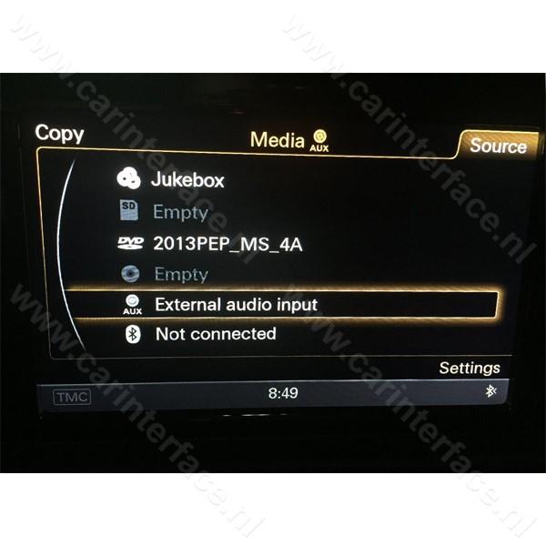 Bluetooh interface / audio streaming adapter voor Audi AMI met MMI 3G Basic / Low en High