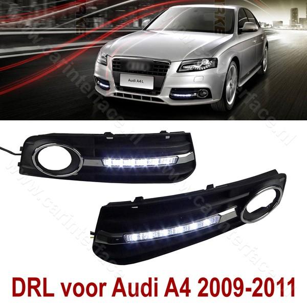Dagrijverlichting voor Audi A4 B8 2009, 2010, 2011, 2012 (LED DRL)
