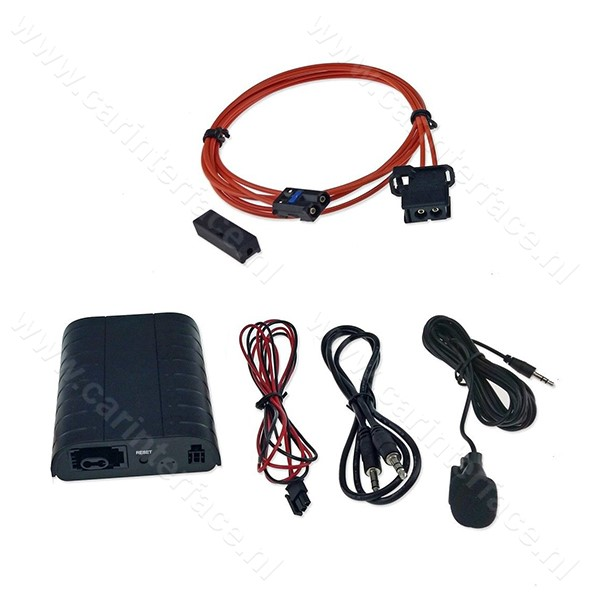 Bluetooth, MP3 USB / MicroSD, AUX ingang, interface adapter voor BMW autoradio's (MOST)
