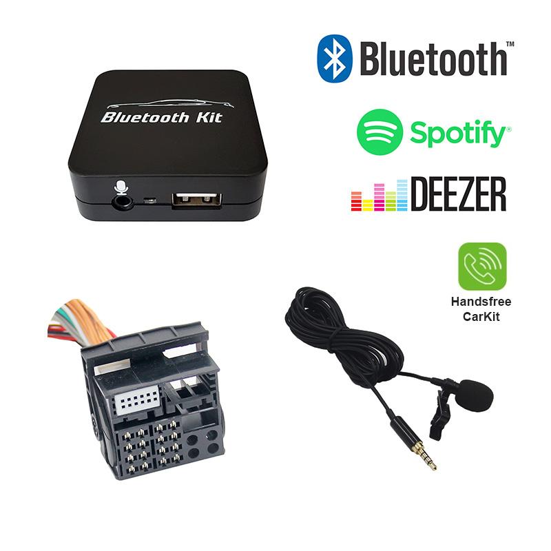 Bluetooth streamen + handsfree carkit interface / audio adapter voor 40-pin BMW autoradio's