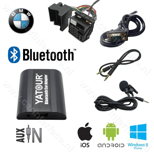 Yatour Bluetooth interface / audio adapter met AUX ingang voor MINI autoradio's (YT-BTA-BM2)