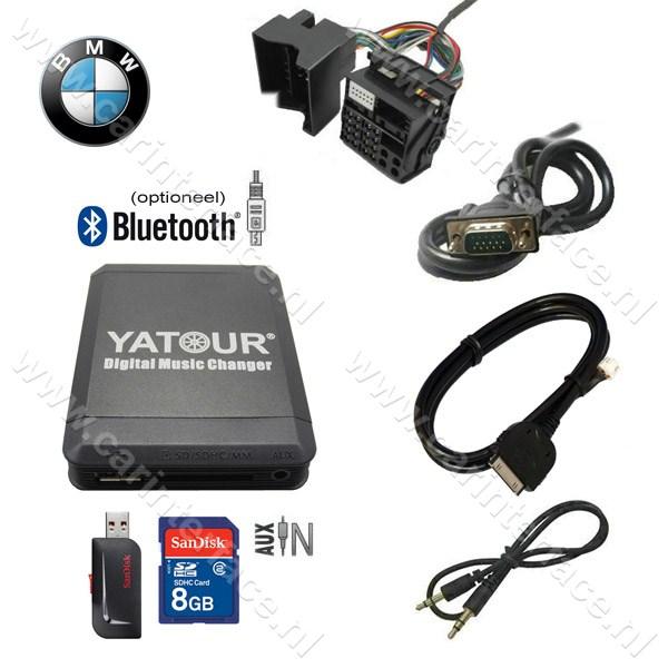 Yatour USB, SD, iPod, iPhone, AUX ingang, MP3 interface / audio adapter voor BMW autoradio's (YTM07-BMW2)