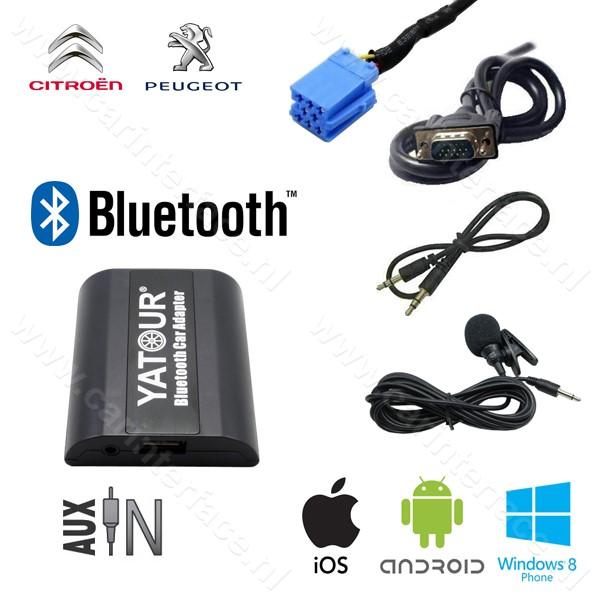 Yatour Bluetooth interface / audio adapter met AUX ingang voor Peugeot autoradio's (YT-BTA-RD3)