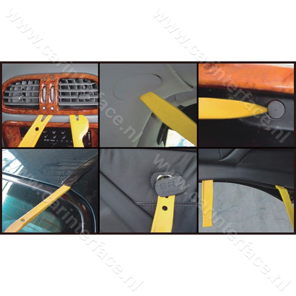 Dashboard, portier, interieur, ventilatieroosters, ACC, middenconsole demontage gereedschap (DRS5)