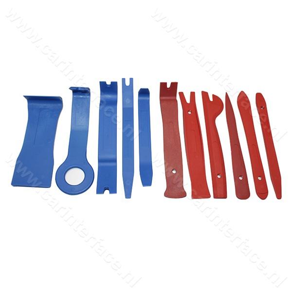 Dashboard, deurpaneel, portier, interieur, bekleding, ventilatieroosters, sierlijst, ACC, middenconsole demontage gereedschap (DRS6)