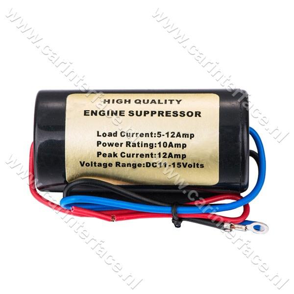 Ontstoringsfilter voor autoradio / versterker,10 AMP, 11-15 Volt (NF-102)