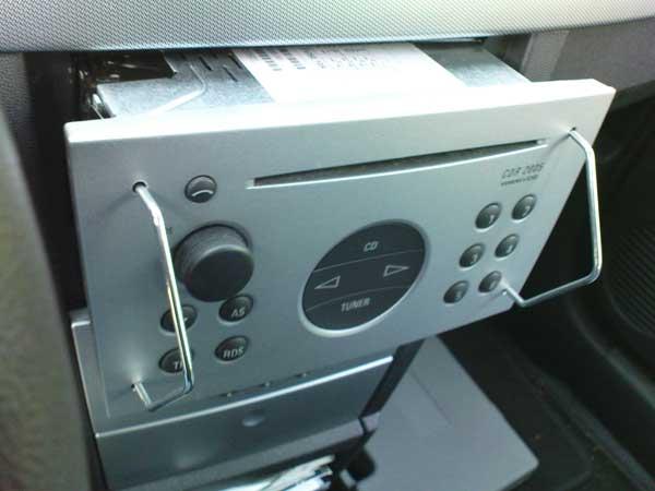 Radio demontage beugel voor 2-din OPEL autoradio's, set Nr. 6