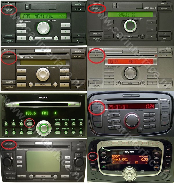 Bluetooth streaming adapter voor o.a. Ford 5000 C, 6000 CD, 6006 CDC radio's, Mondeo, Focus, C-Max, Fiesta, Galaxy, Transit