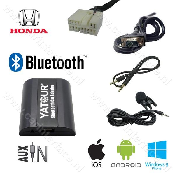 Yatour Bluetooth interface / audio adapter met AUX ingang voor Honda Goldwing GL1800 radio's (YT-BTA-HON2F)