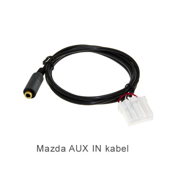 16-pin AUX IN 3.5MM female kabel voor Mazda autoradio's