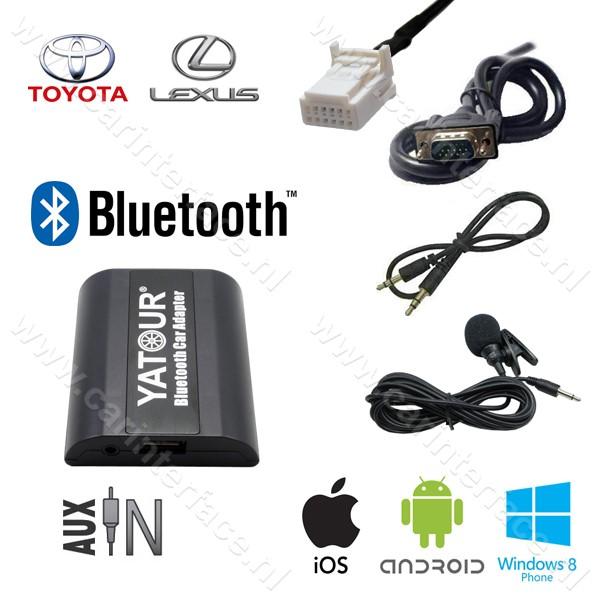 Yatour Bluetooth interface / audio adapter met AUX ingang voor Toyota autoradio's