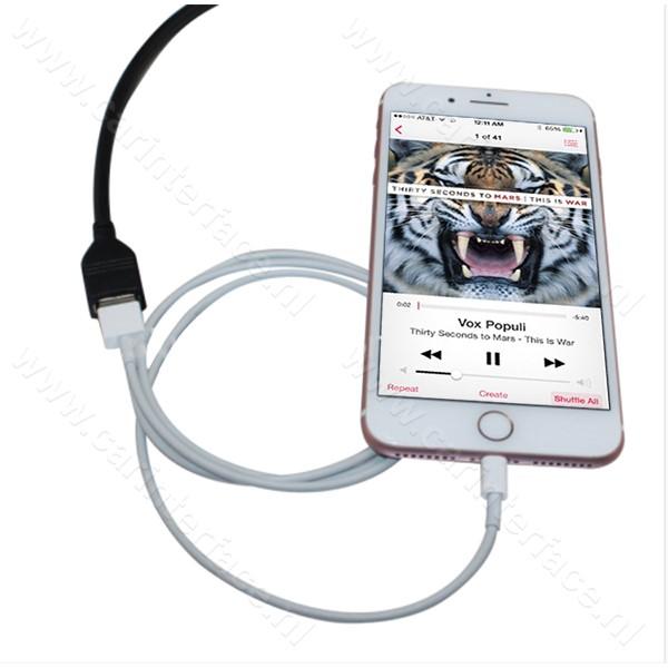 iPhone, iPod, iPad USB naar 16-pin AUX poort, adapter voor Mazda autoradio's