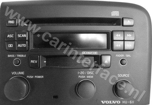 Yatour USB, SD, AUX Ingang, MP3 interface / audio adapter voor Volvo HU autoradio's (YTM06-VOLHU)