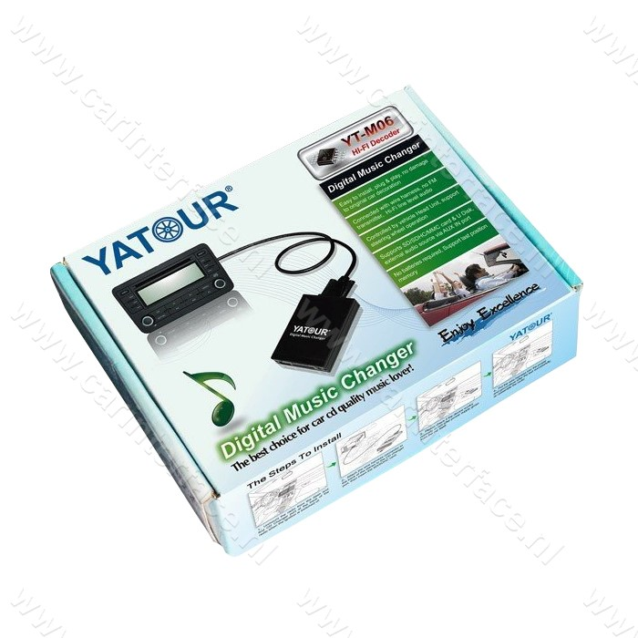 Yatour USB, SD, AUX ingang, MP3 interface / audio adapter voor SKODA autoradio's