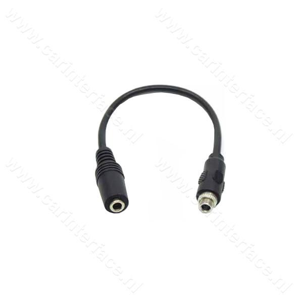 3.5mm Female naar 3.5mm Female Panel Mount Cable, AUX inbouw