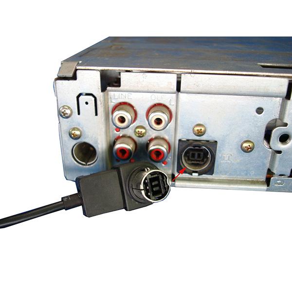 AUX IN 2RCA female kabel voor Alpine Ai-NET, Sony UniLink en JVC Jlink