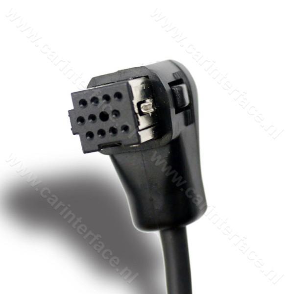 AUX IN kabel voor Pioneer autoradio's met een IP-BUS CD-wisselaar aansluiting