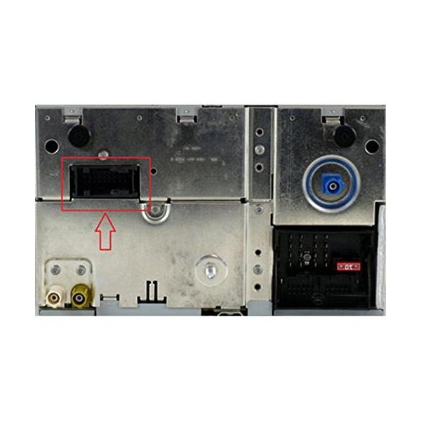 AUX kabel voor RNS2 en MFD2 autoradio's van Volkswagen, Audi, Ford, Seat en Skoda met een 18-pin aansluiting